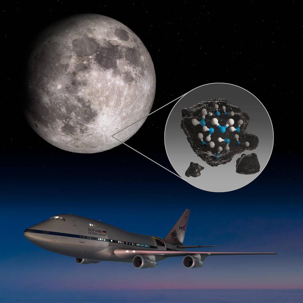 La Nasa ha scoperto la presenza di acqua sulla superficie della Luna (Foto Nasa)