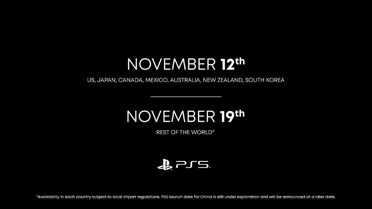 PS5 sarà disponibile dal 19 novembre (Sony)
