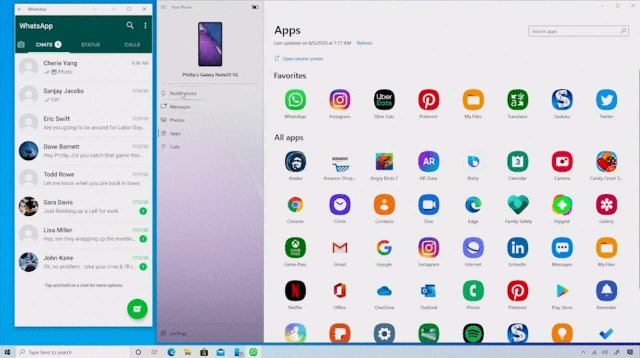 Windows con Android
