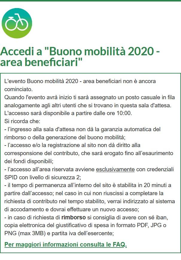 Bonus Mobilità 2020: sito già offline