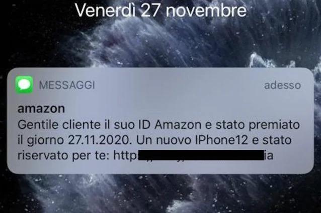 Amazon SMS truffa