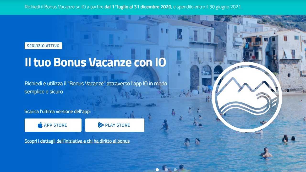 Bonus Vacanze su IO