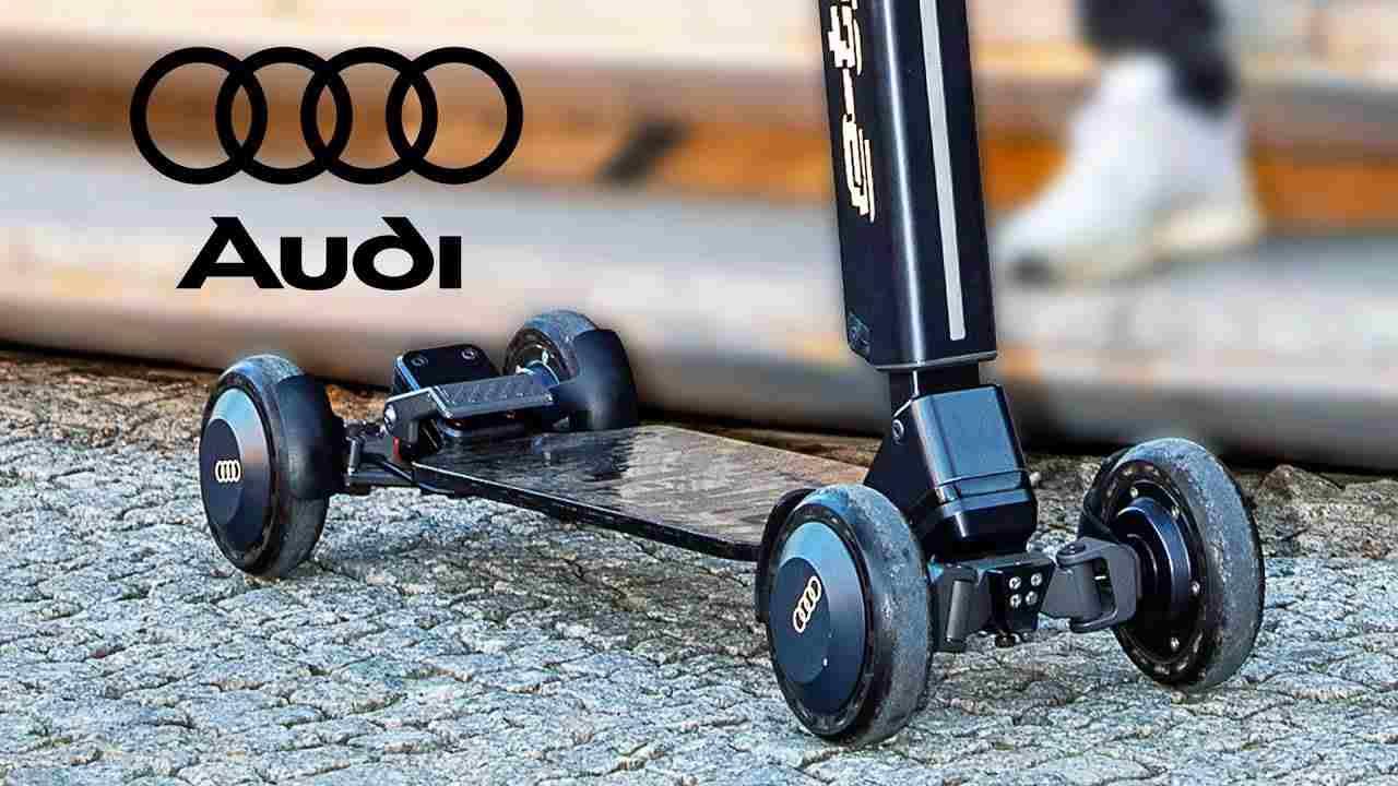 Monopattino elettrico Audi (YouTube)