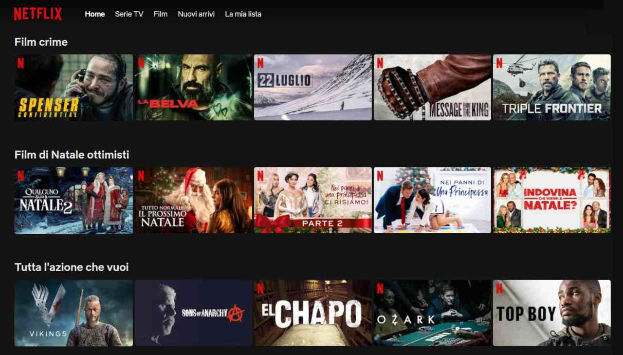 Catalogo film e serie TV