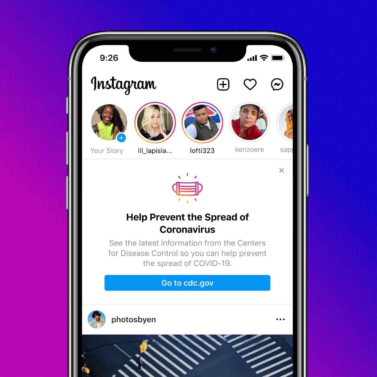 Instagram contro le fake news su COVID-19