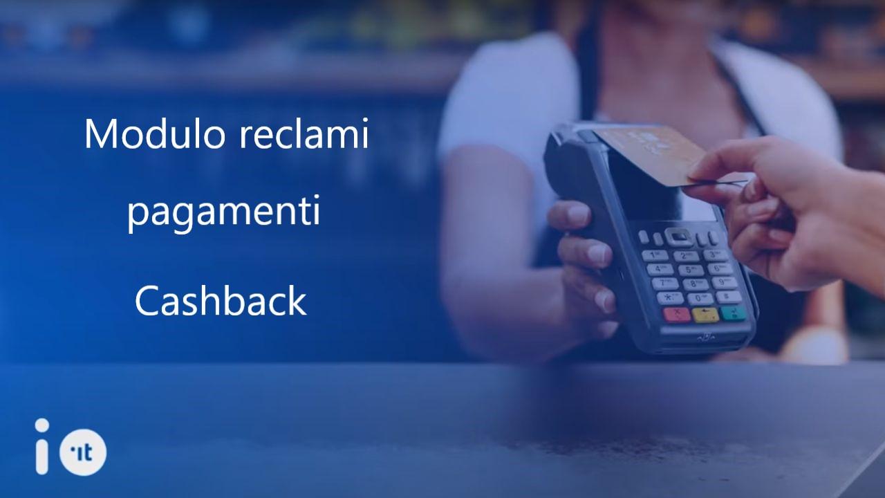 Modulo reclami Cashback