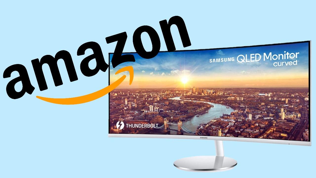 Offerta Amazon monitor curvo