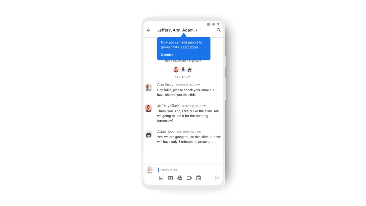 google chat mobile new features