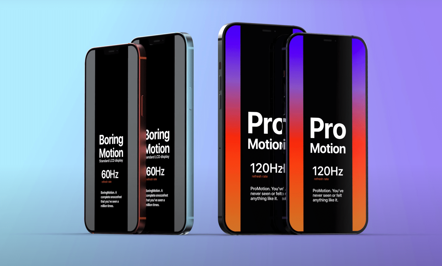 iPhone 13 Pro display a 120Hz