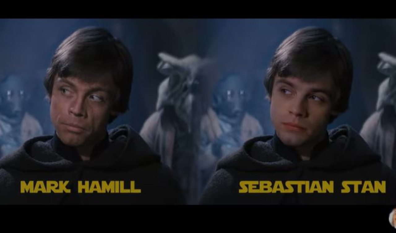 Sebastian Stan diventa Luke Skywalker con un Deepfake(Youtube)