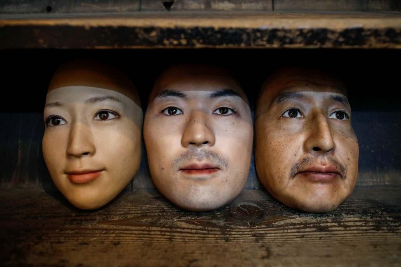 Le maschere di Okawara (Foto NY Post)