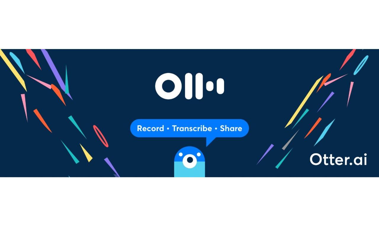 Otter transcription service based on AI