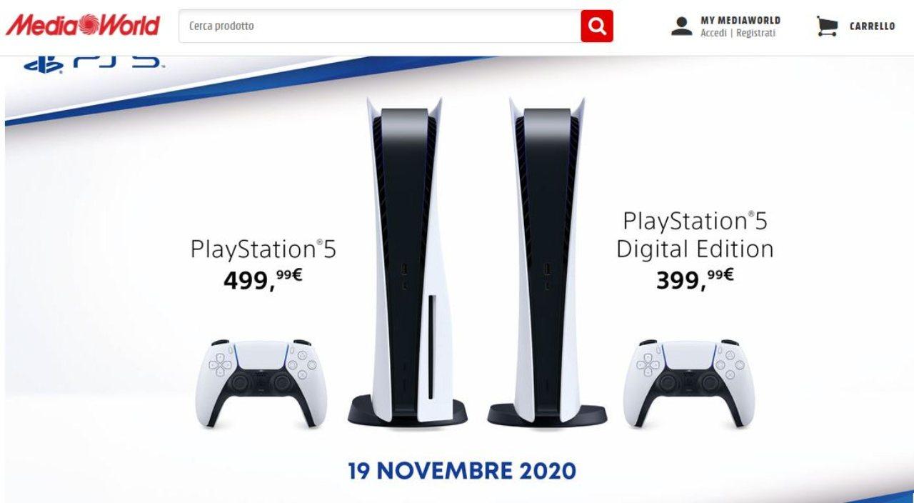 PS5 torna disponibile