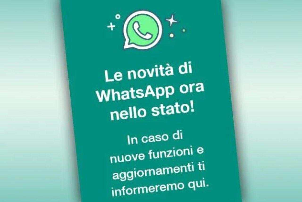 WhatsApp e la novità dello stato