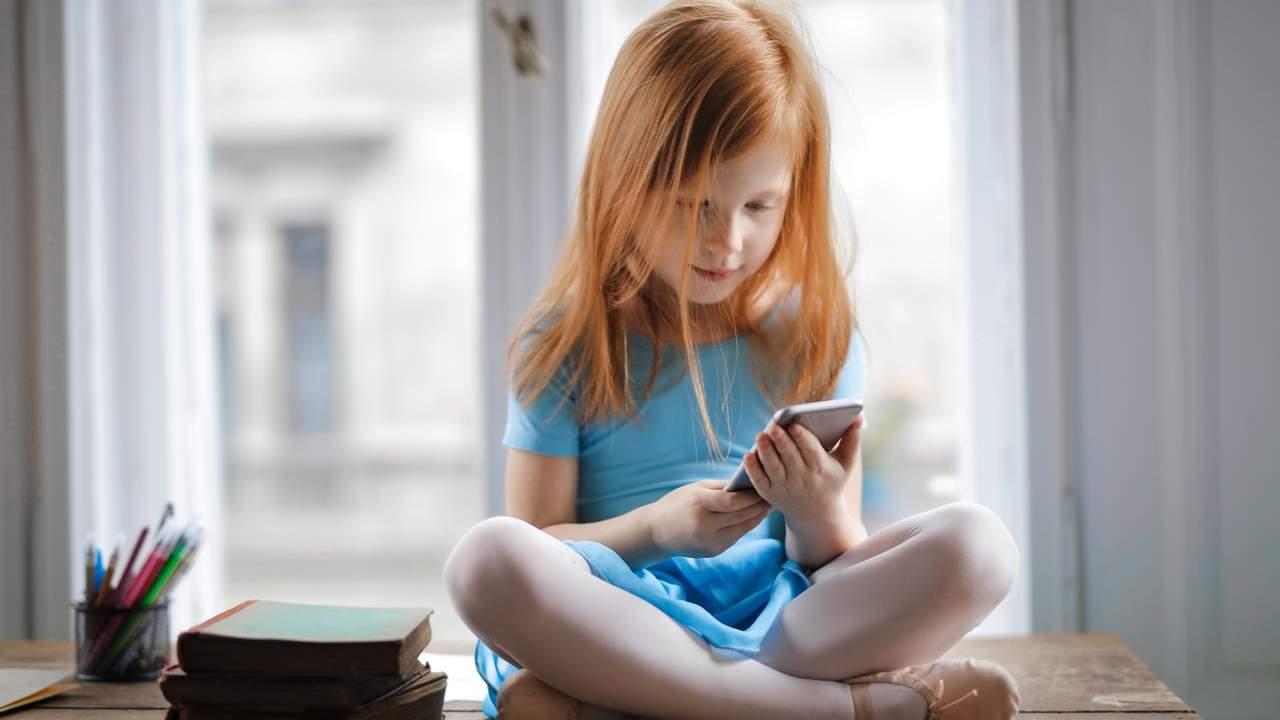 Uso dello smartphone tra i bambini
