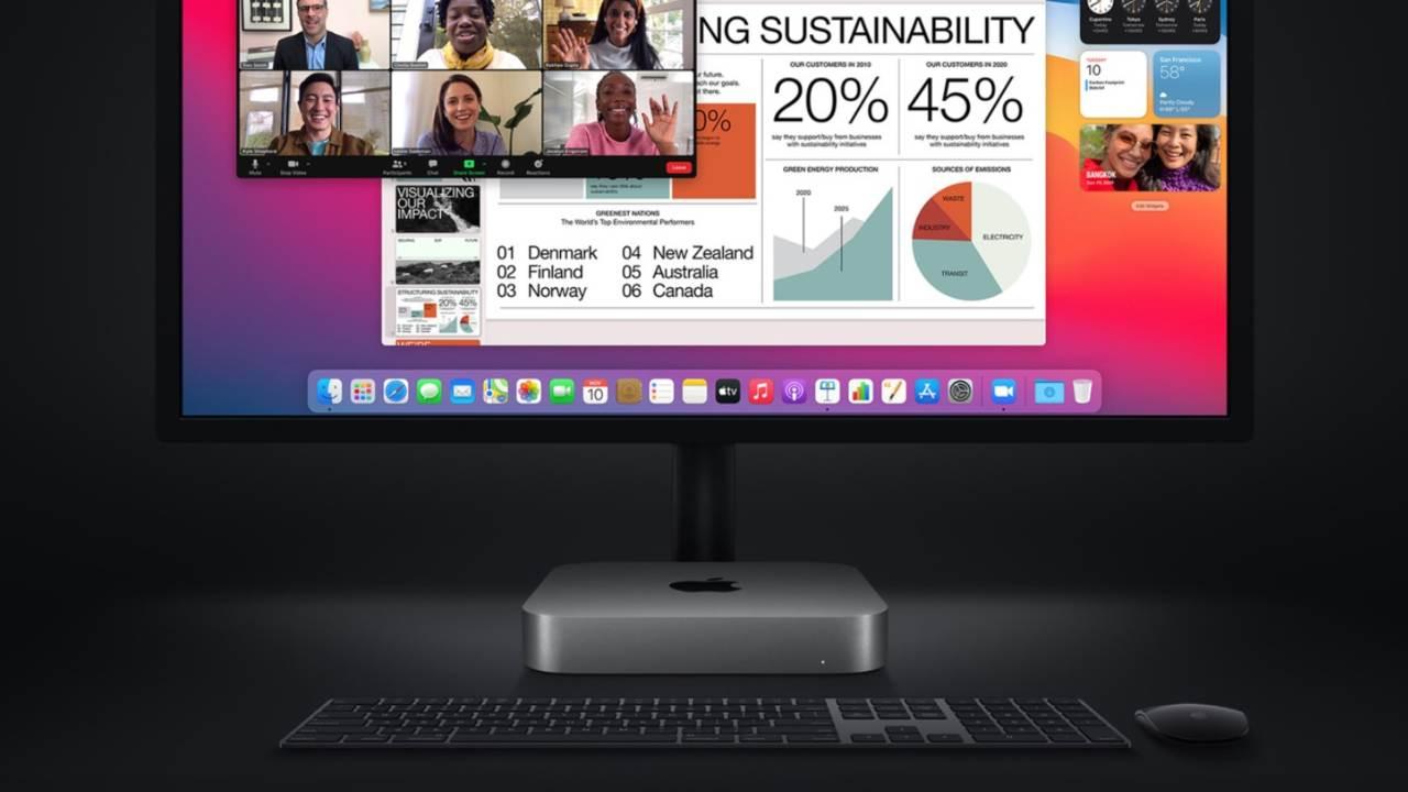 Mac mini con monitor e tastiera