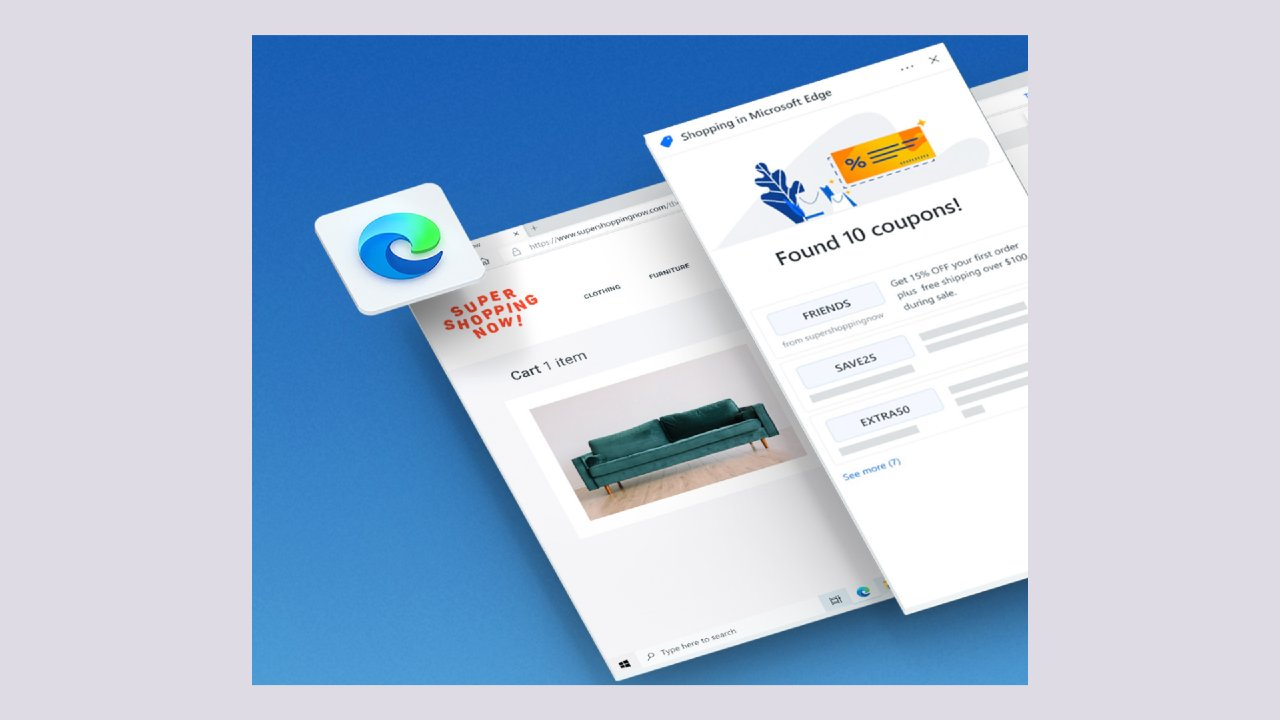 Microsoft Edge, focus sull'e-commerce