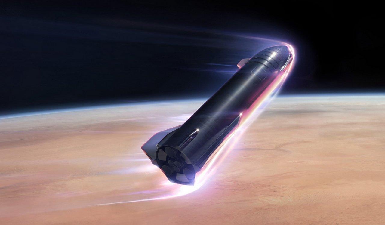 SpaceX atterraggio fallito render