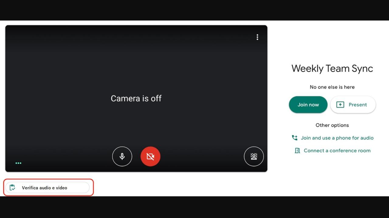 Verifica qualità audio e video