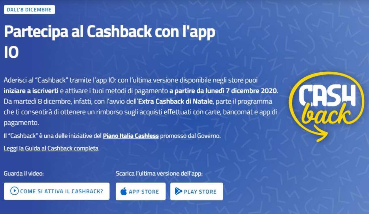 Cashback di Stato (Sito ufficiale)