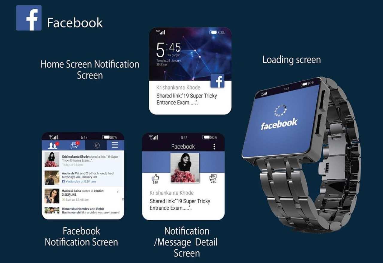 Facebook smarwatch (Foto Techeblog)