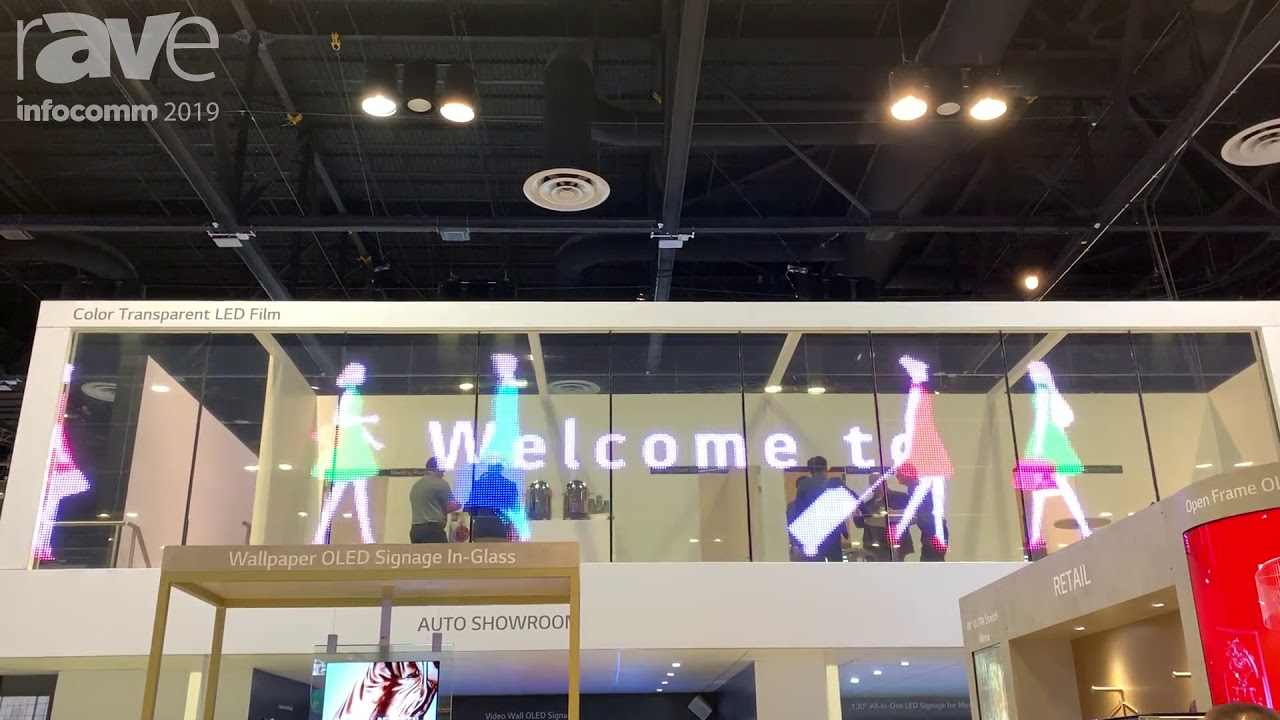 Led film transparent di Lg (Foto Youtube)