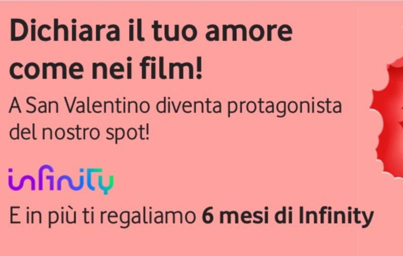 Vodafone, Infinity a San Valentino (Foto Vodafone.it)