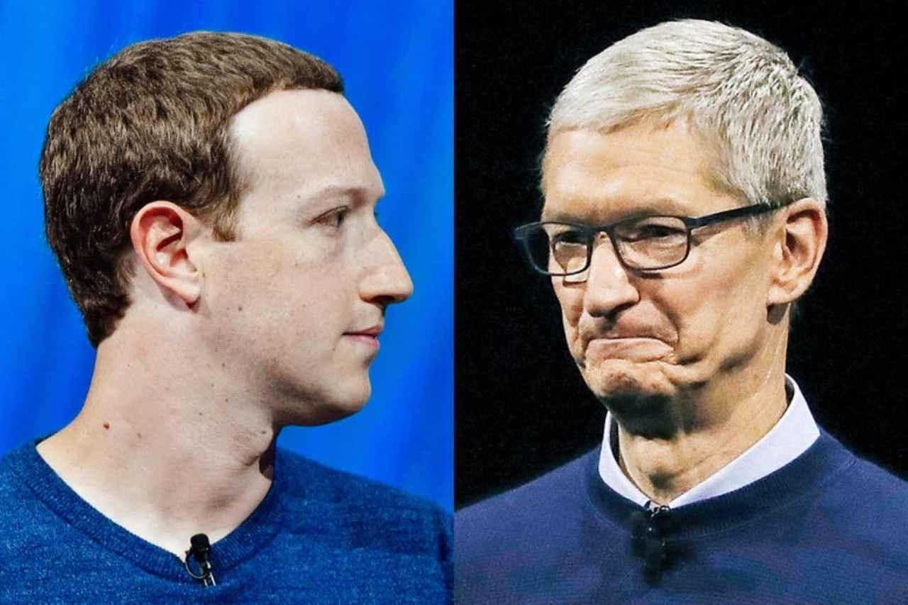 Zuckerberg e Cook, Facebook vs Apple (Slate.com)