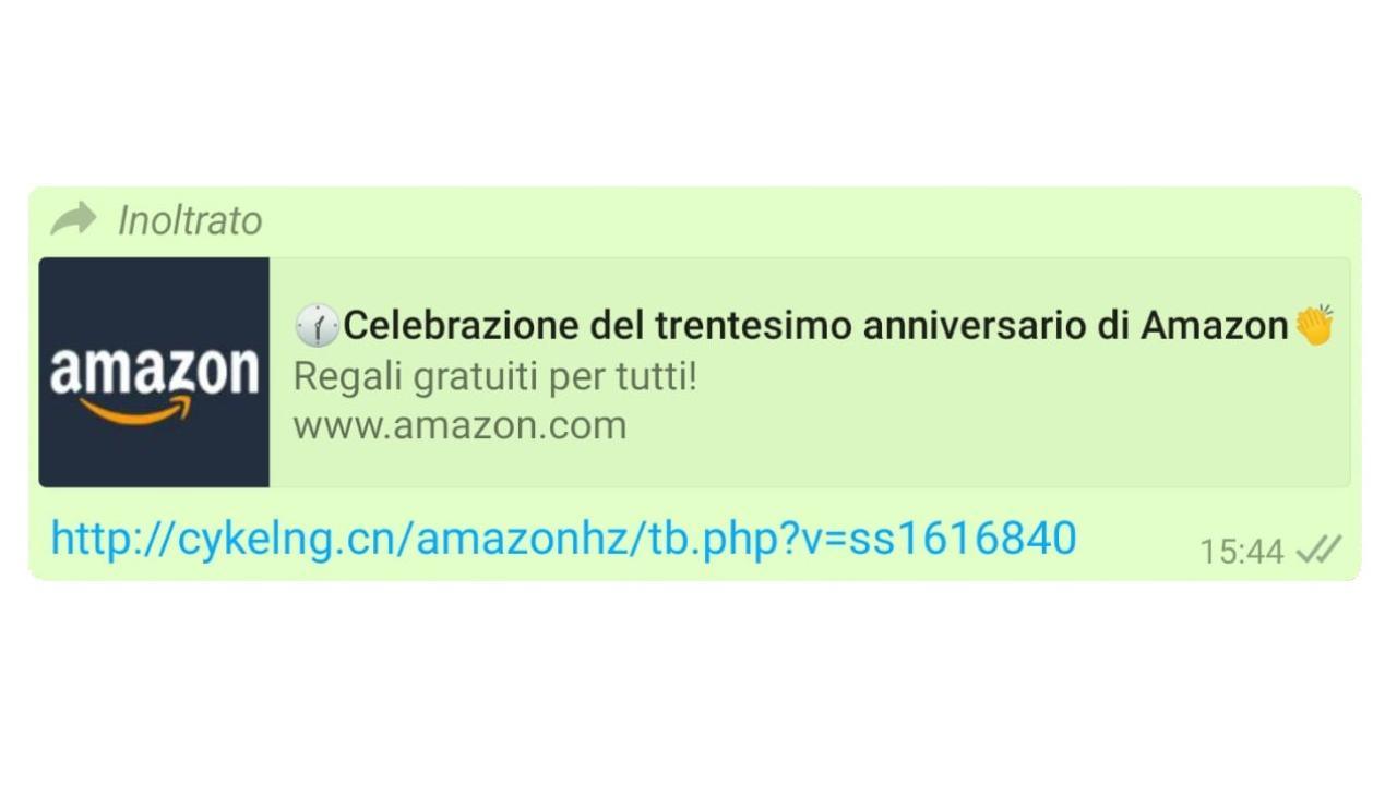 Bufala Anniversario Amazon