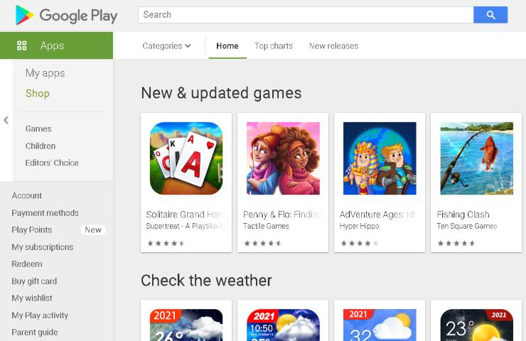 Google Play Store (Image from play.google.com store)