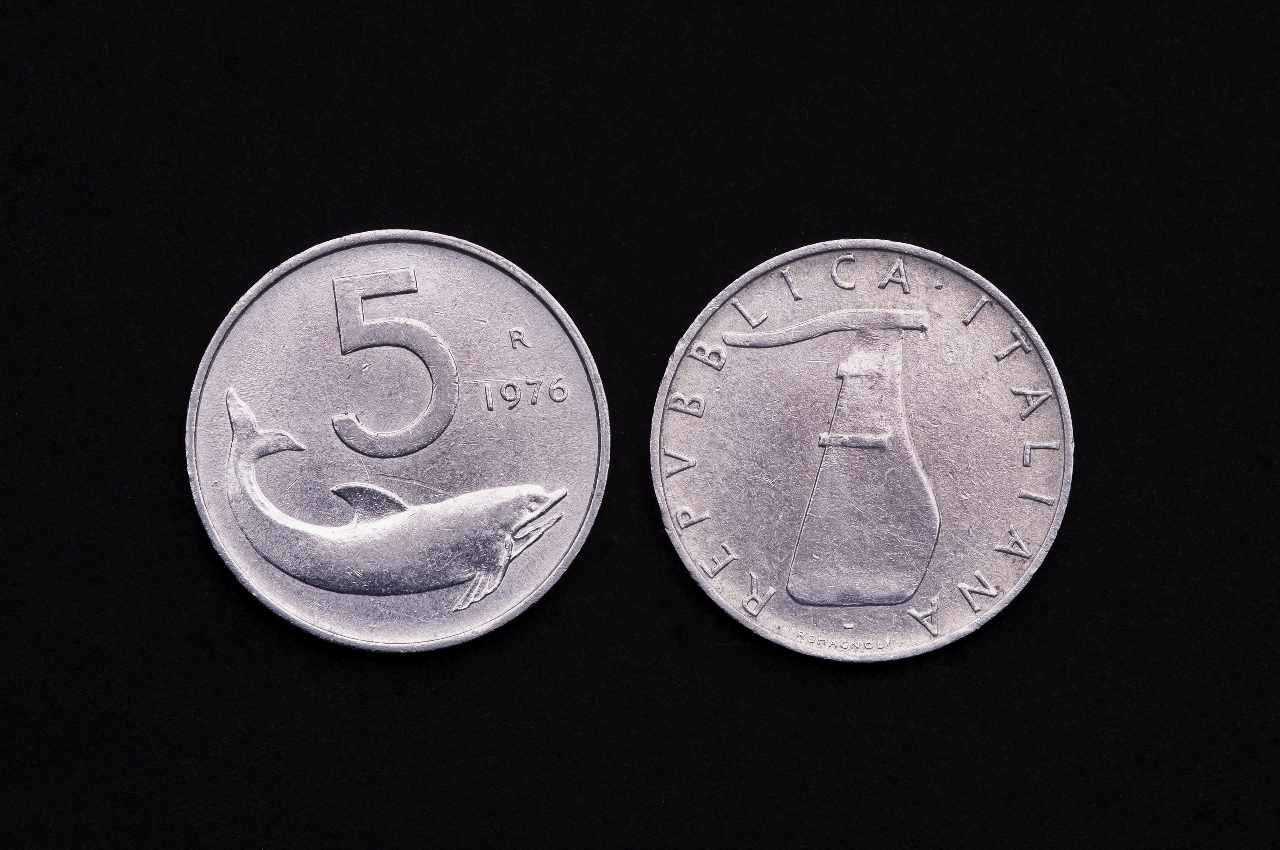 Moneta da 5 lire del 1976 (Adobe Stock)