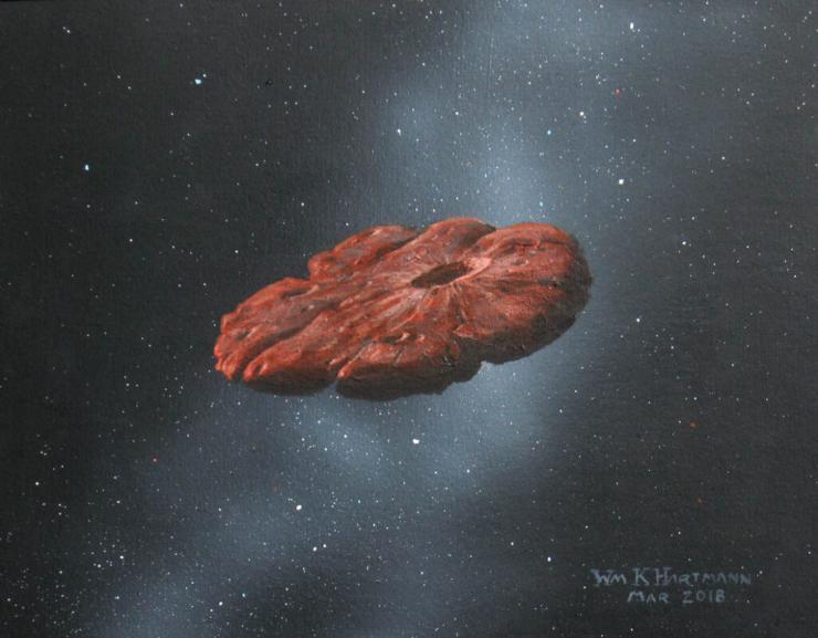 Oumuamua (Foto Astrospace)