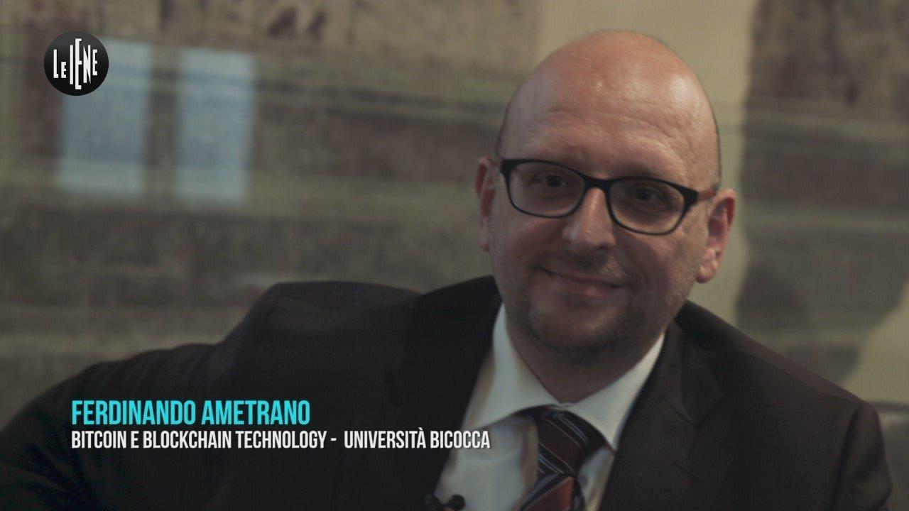 Ferdinando Ametrano esperto di Bitcoin (Foto Le Iene)