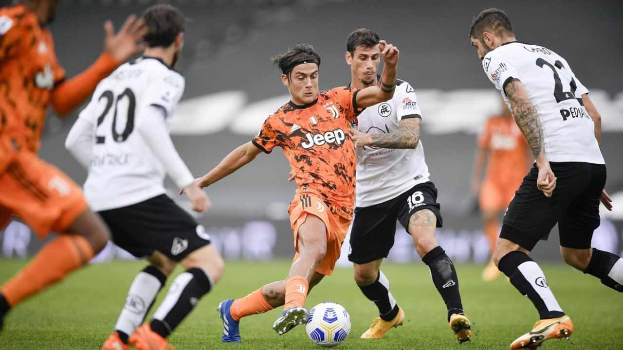 Juventus-Spezia sul digitale terrestre (Foto Eurosport)