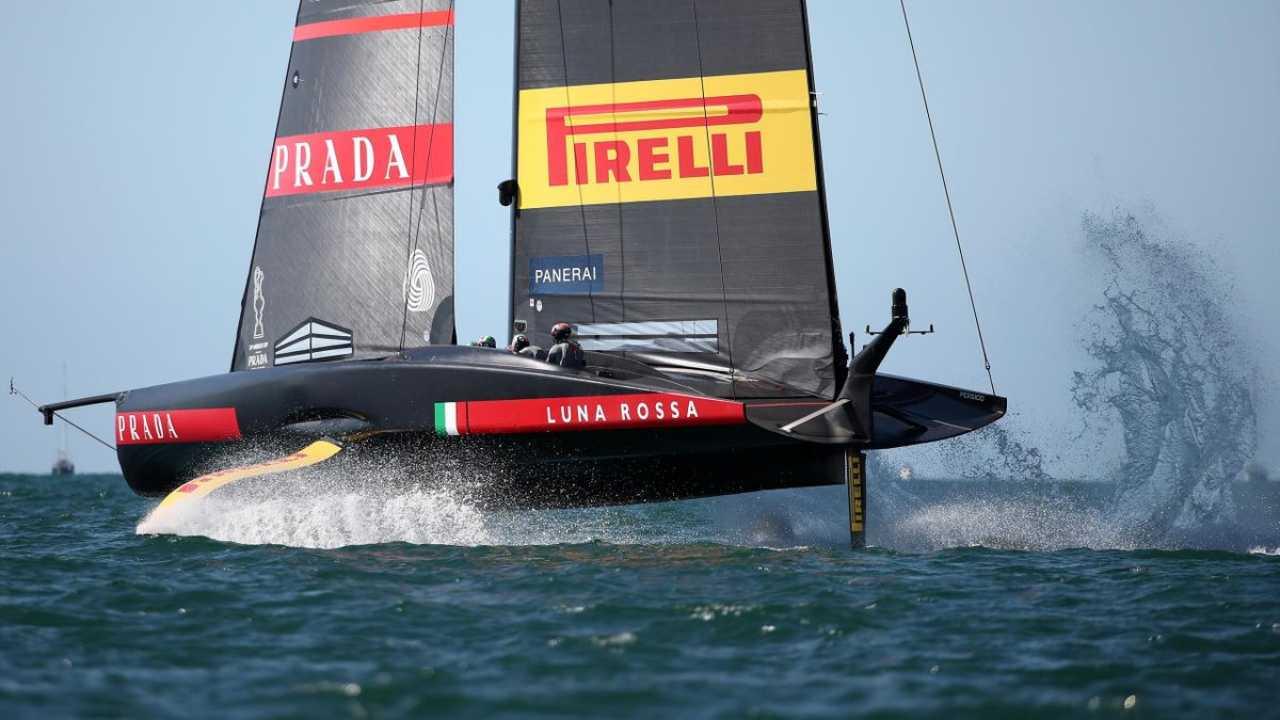 Luna Rossa vs New Zealand (Foto Eurosport)