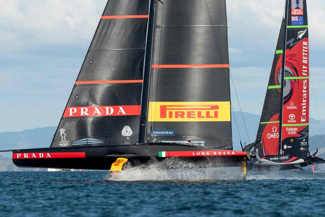 Luna Rossa vs New Zealand (Foto Sportmediaset)