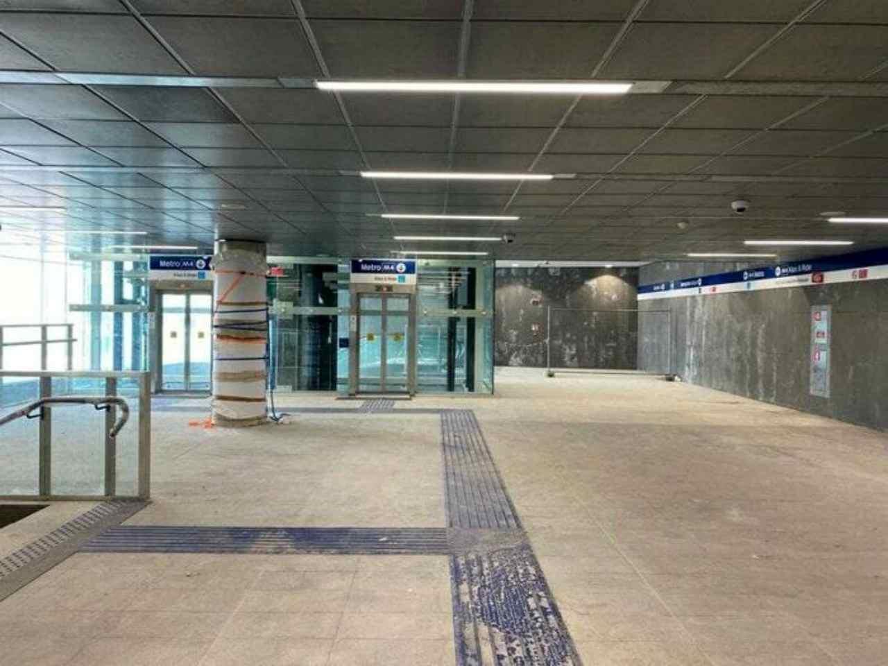 Metro M4 Milano (Foto Facebook)