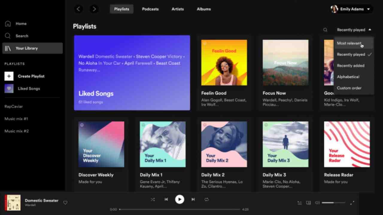 Spotify, nuova interfaccia