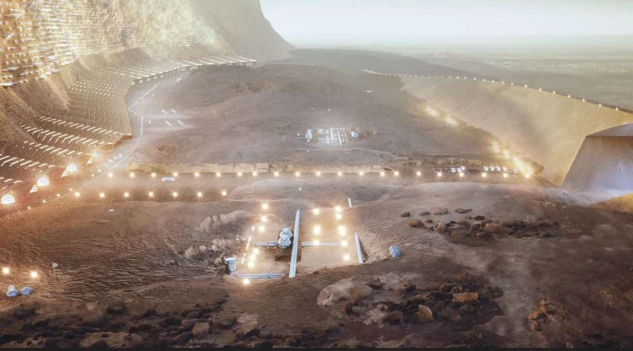 Nuwa, prima città su Marte (Foto Abiboo.com)