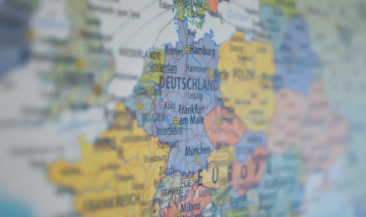 Cartina dell'Europa