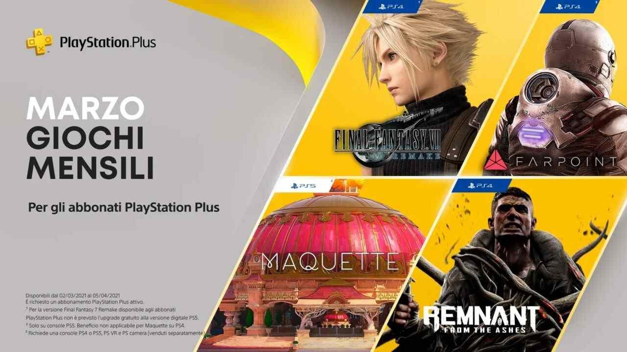 Giochi Playstation plus marzo