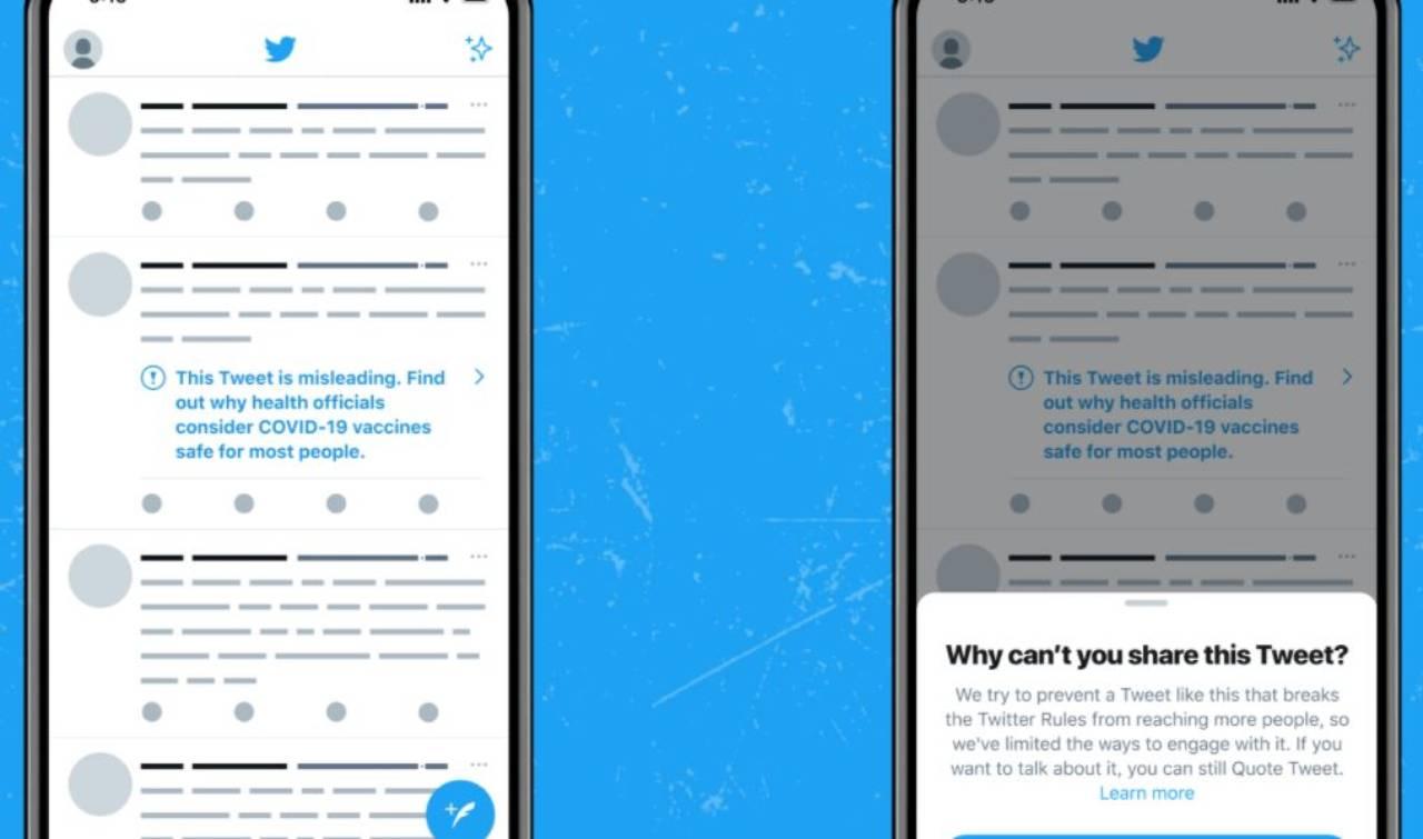 Twitter contro le fake news sui vaccini (Foto blog Twitter)