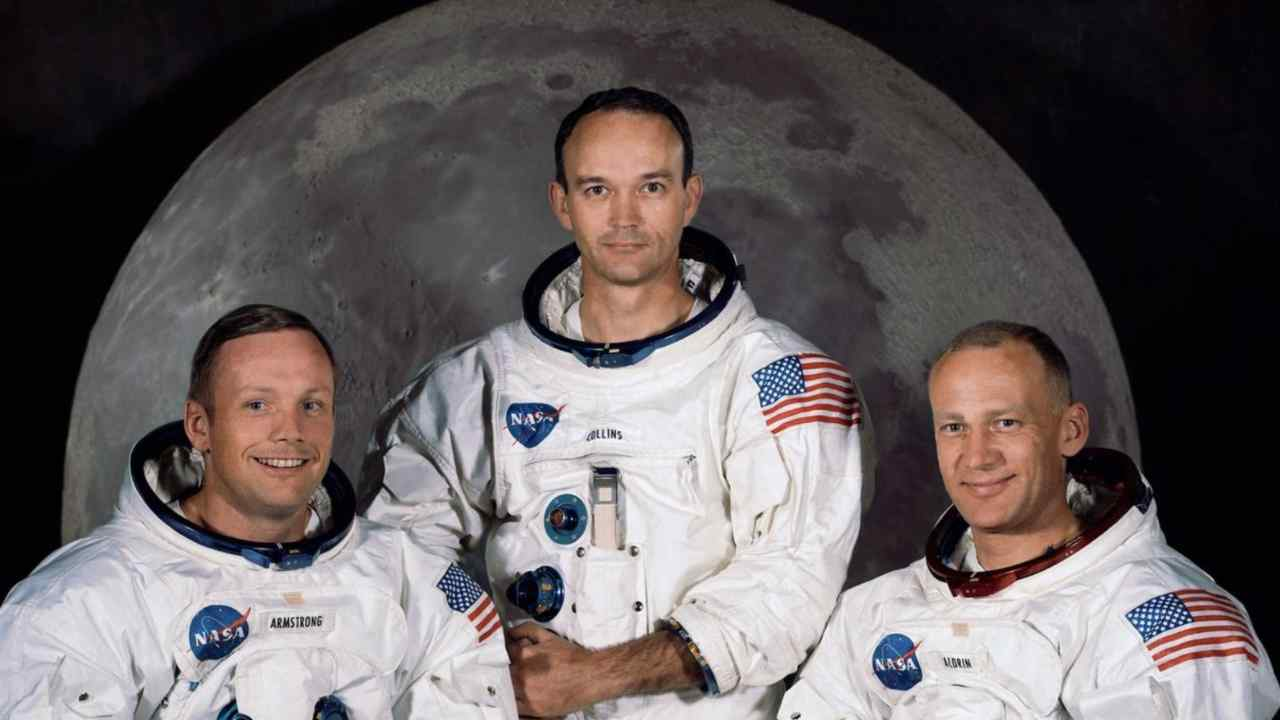 I tre astronauti dell'Apollo 11