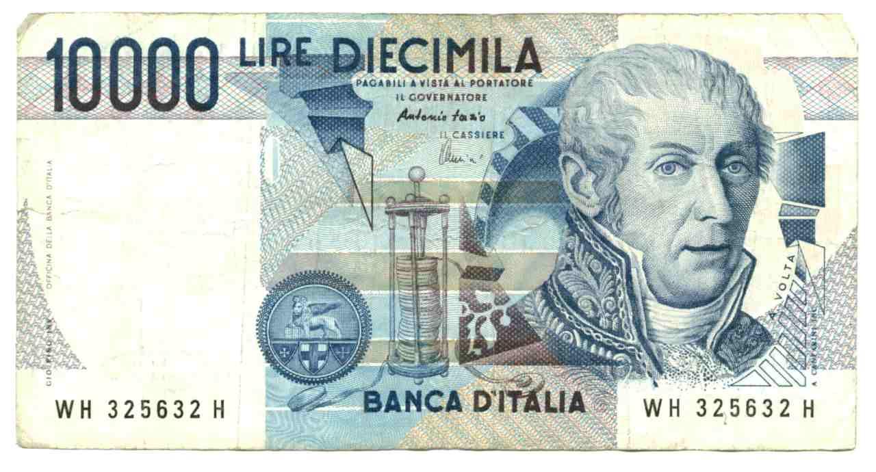 Il fronte delle 10.000 lire Alessandro Volta (Adobe Stock)