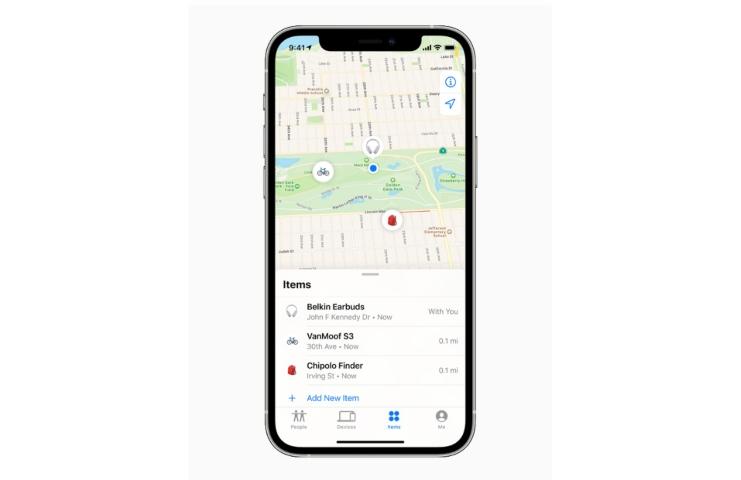 Apple Dov'è La schermata di tracciamento