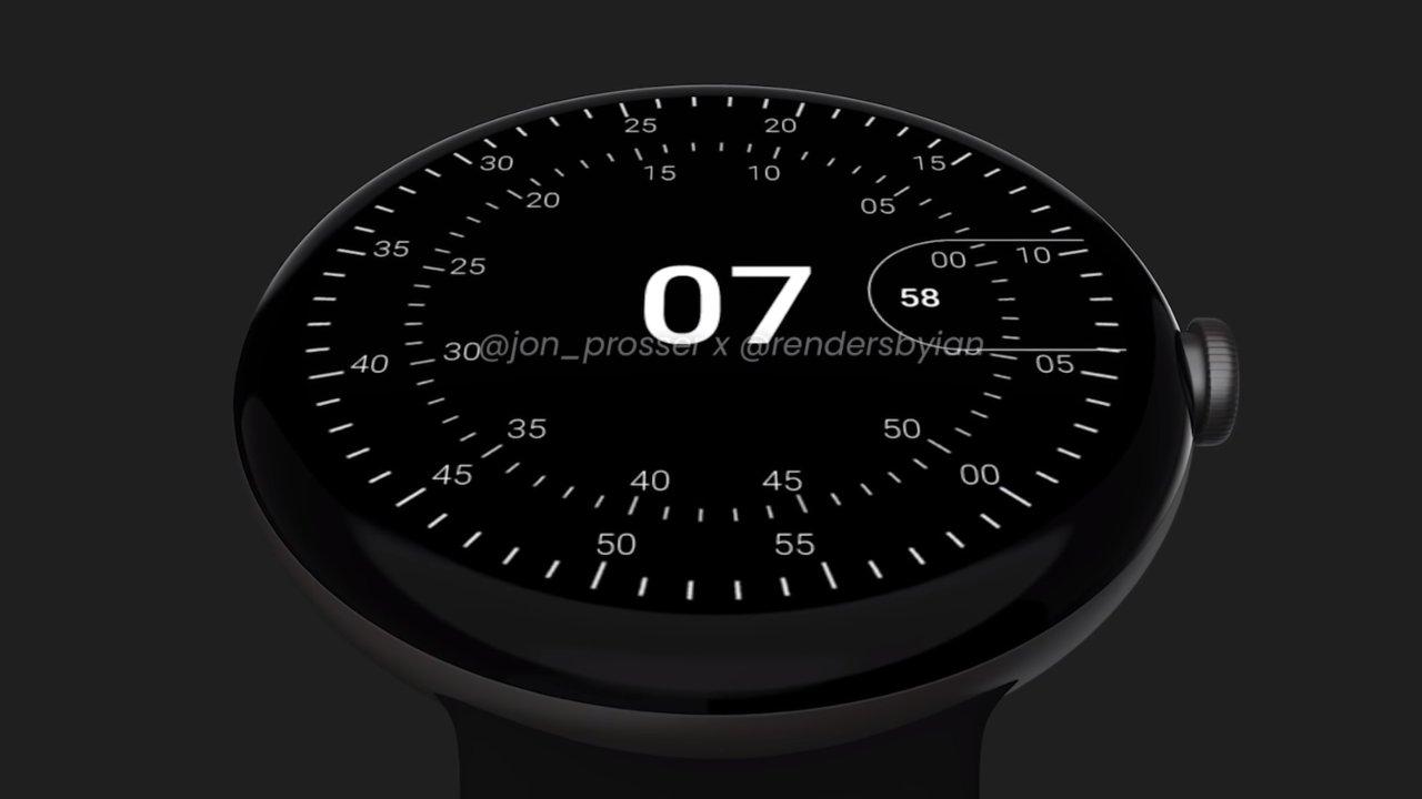 Render 1 dello smartwatch Google