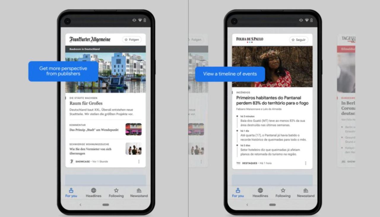 Google News Showcase (Foto ufficiale Google)