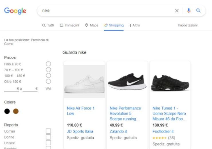 Google shopping chiude l'app