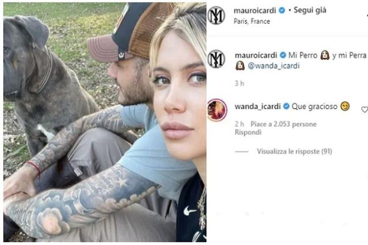 Icardi e Wanda Nara (Instagram)