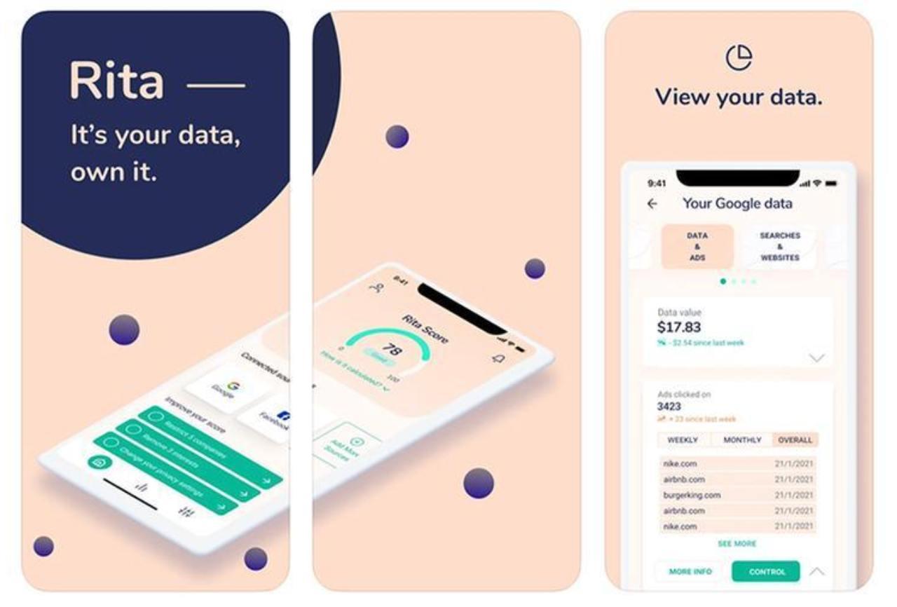 Rita, l'app sui dati Facebook e Google